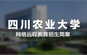 四川农业大学网络远程12bet手机版客户端招生简章